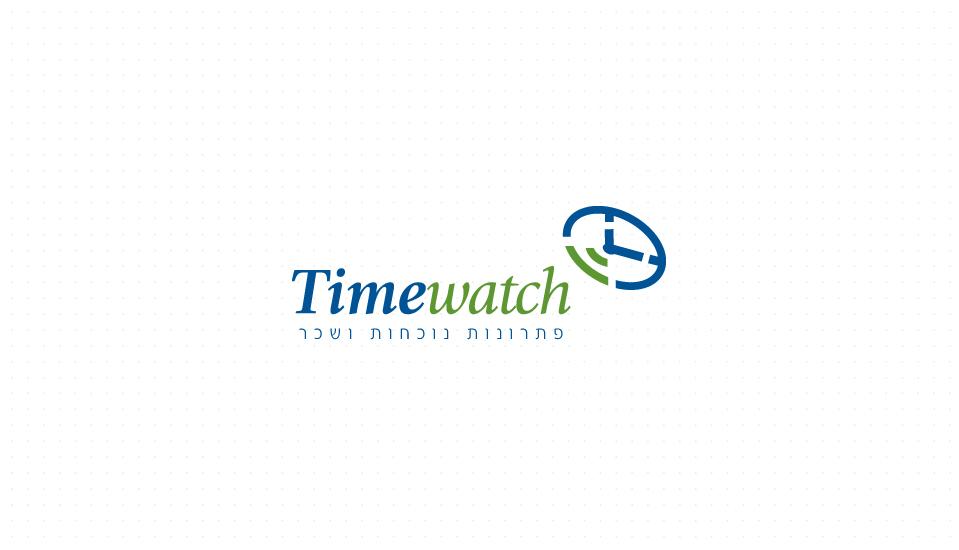עיצוב לוגו ותדמית לחברת timewatch