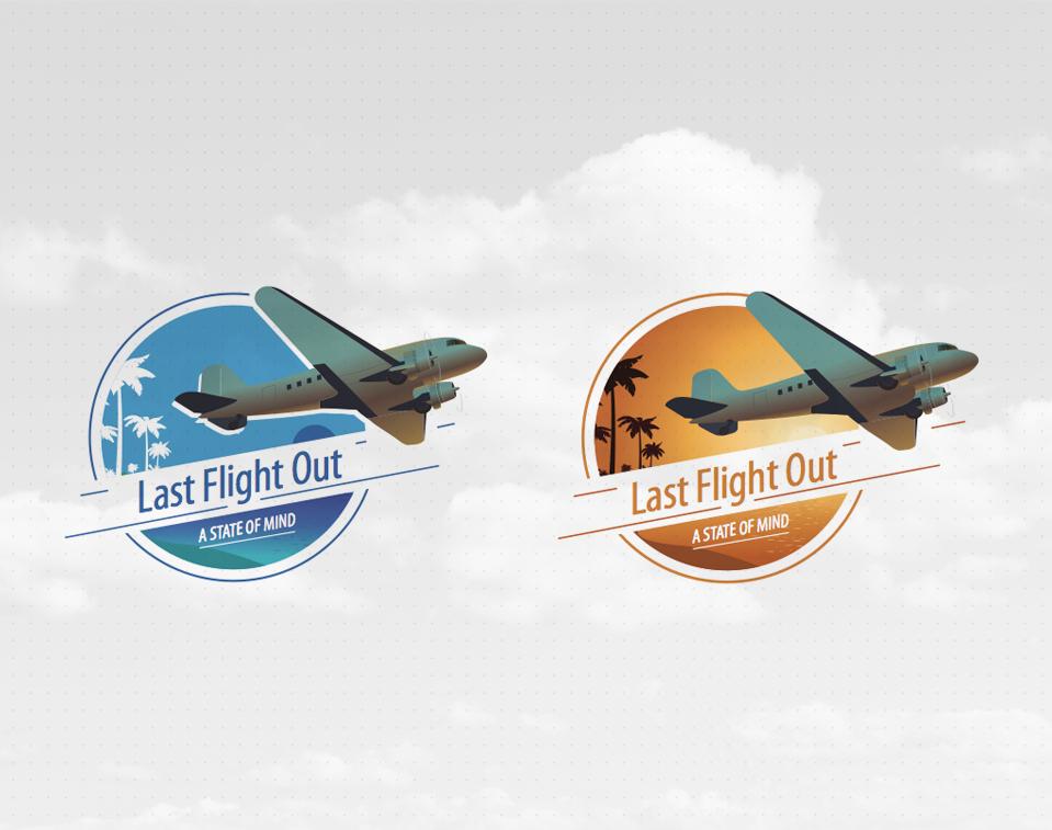 סקיצות עיצוב לוגו עבור מותג בגדים last flight out