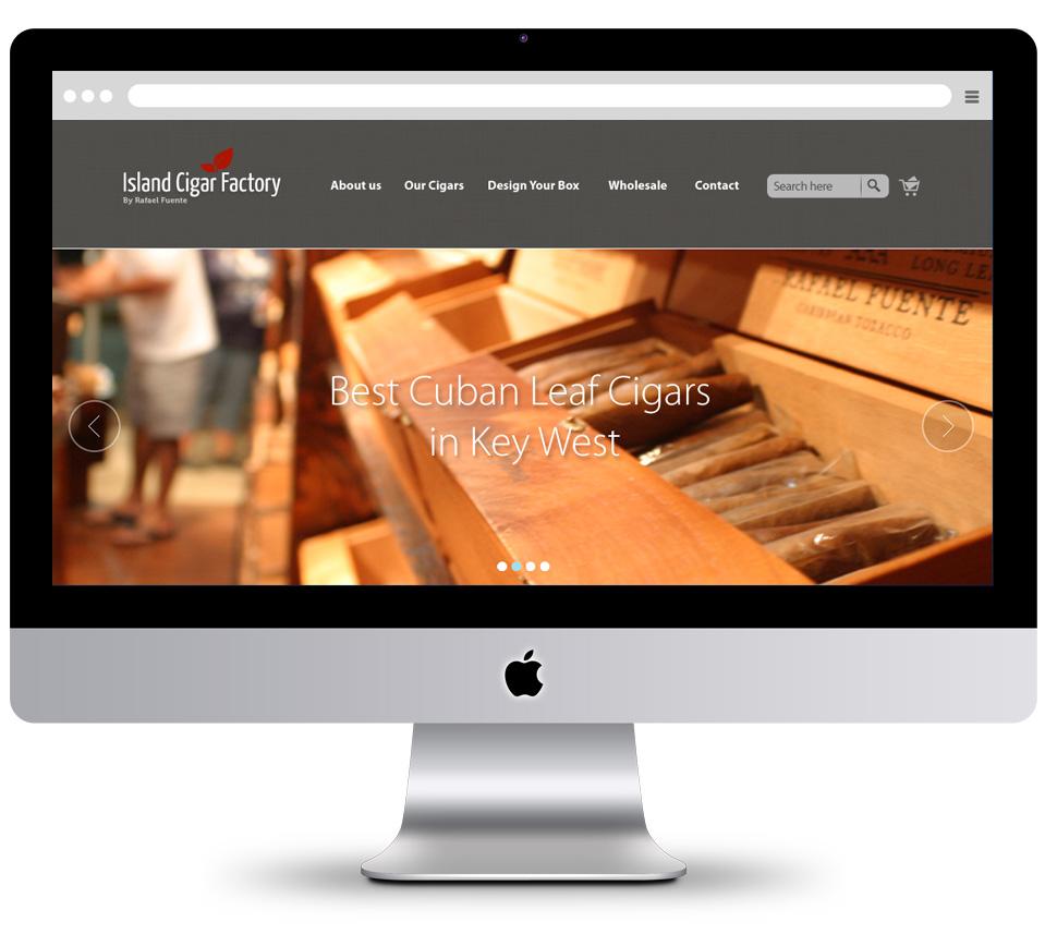 עיצוב אתר island cigar factory