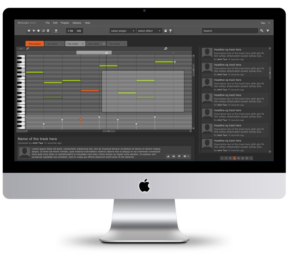 עיצוב ממשק תוכנה melodo