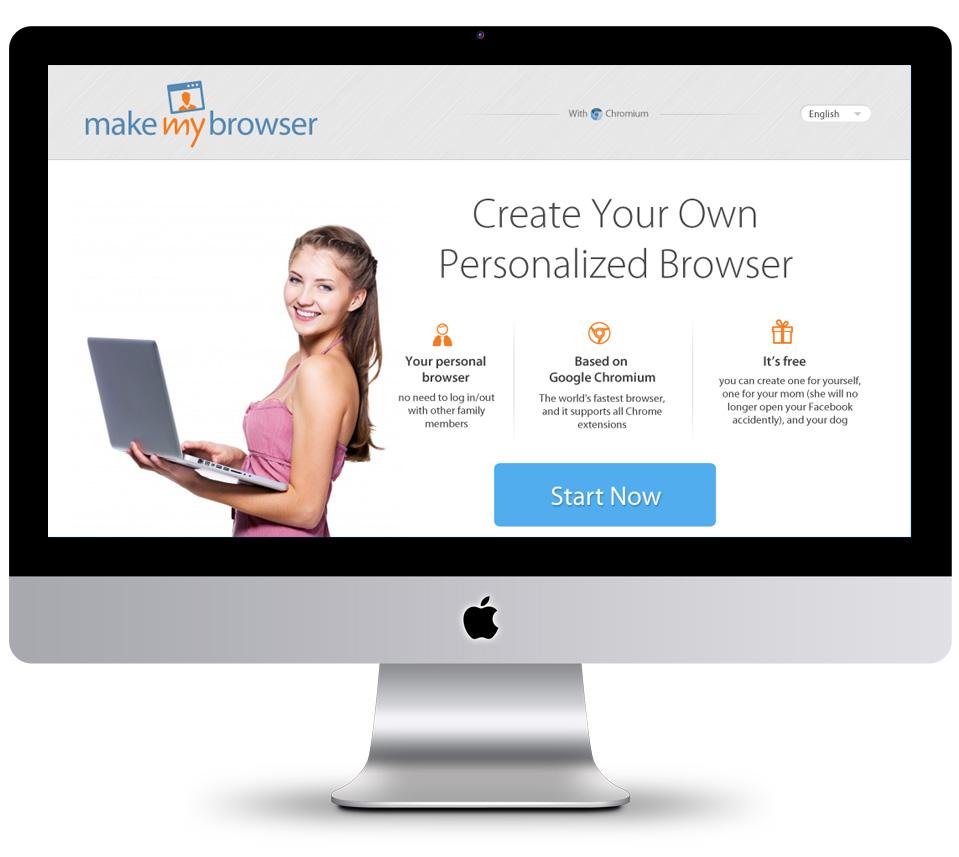 עיצוב אתר make my browser