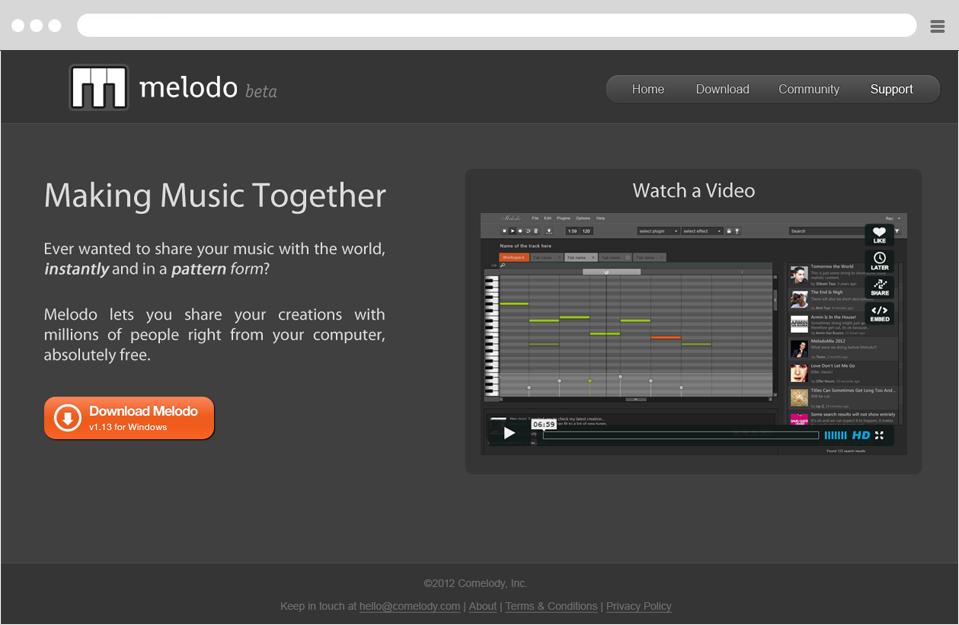 עיצוב אתר melodo