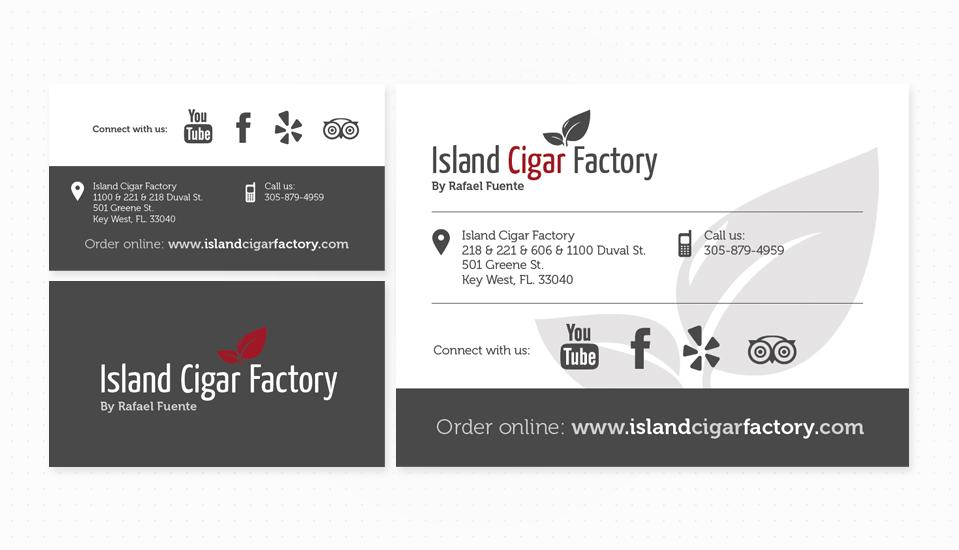 עיצוב ניירת island cigar factory