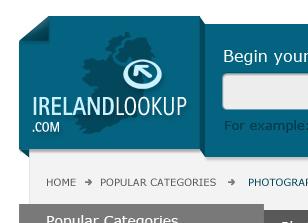 עיצוב לוגו ועיצוב אתר למימשק חיפוש אנשים באירנלנד
